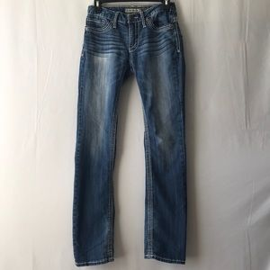 BKE Women's Denim Aiden Straight Jeans